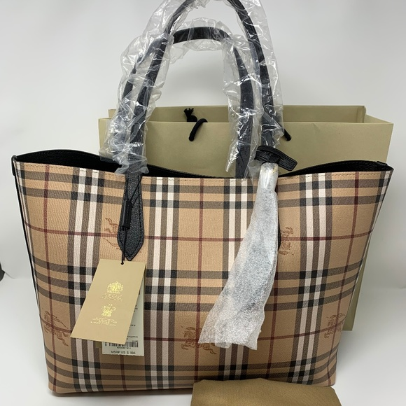 06df545957bd Brand New Burberry Revesible Black Tote Bag
